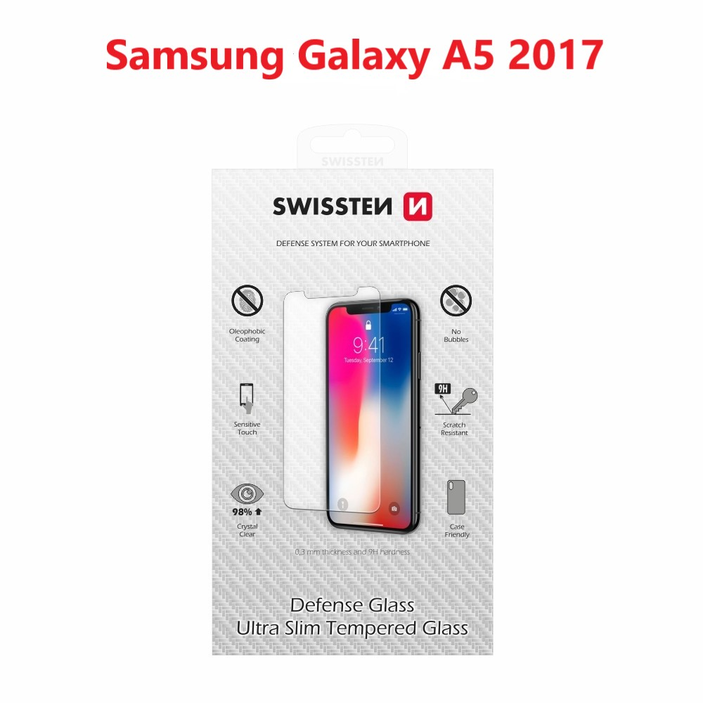OCHRANNÉ TEMPEROVANÉ SKLO SWISSTEN SAMSUNG A520 GALAXY A5 2017 RE 2,5D
