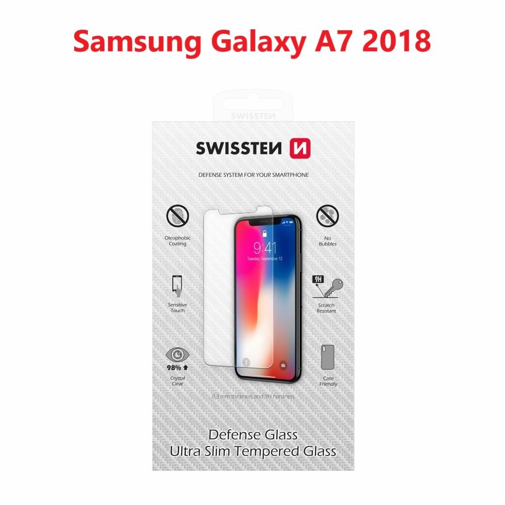 OCHRANNÉ TEMPEROVANÉ SKLO SWISSTEN SAMSUNG A750F GALAXY A7 2018 2,5D
