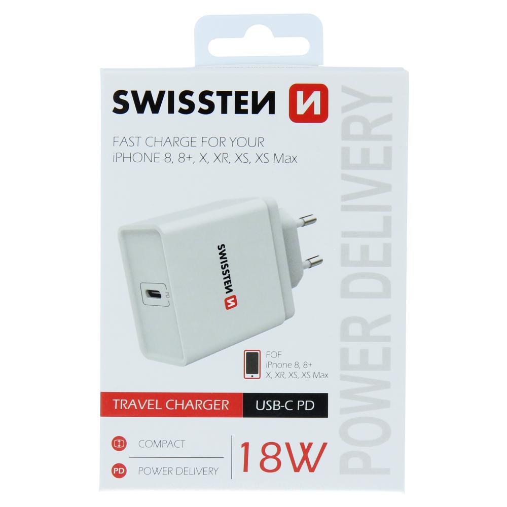 SWISSTEN SÍŤOVÝ ADAPTÉR POWER DELIVERY USB-C 18W