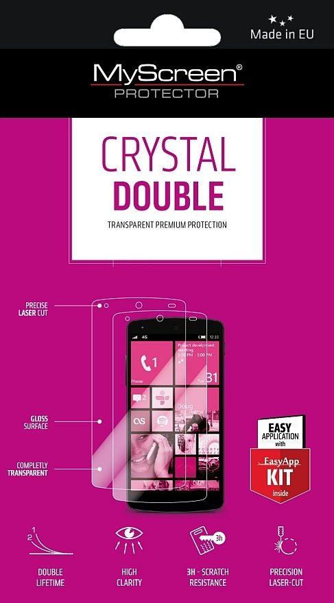 OCHRANNÁ FÓLIE NA DISPLEJ MYSCREEN CRYSTAL DOUBLE  EASY APP KIT HUAWEI ASCEND G526