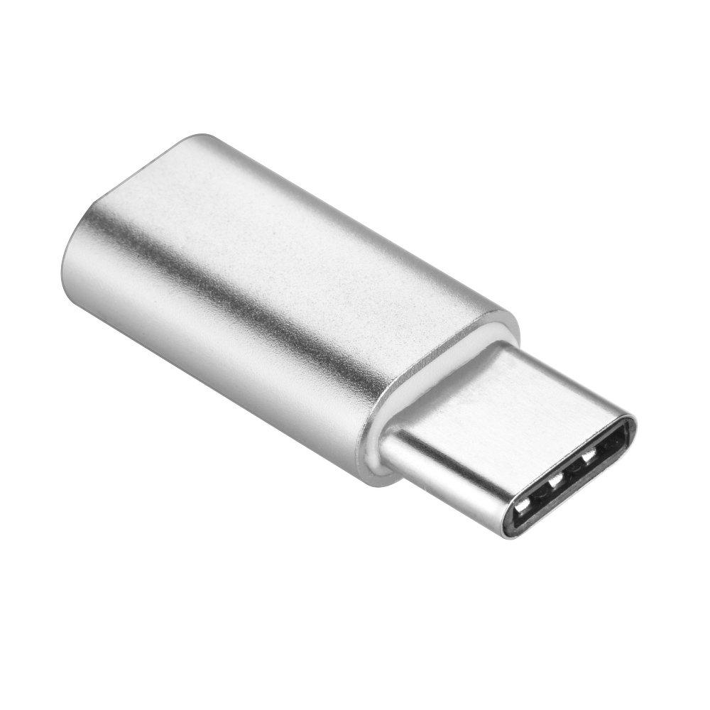 ADAPTÉR MICRO USB/USB-C STŘÍBRNÝ