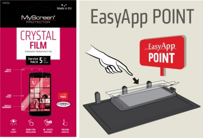 EASY APP POINT SERVIS PACK 5 ks OCHRANNÝCH FÓLIÍ NA DISPLEJ MYSCREEN CRYSTAL SAMSUNG G386F GALAXY CORE LTE