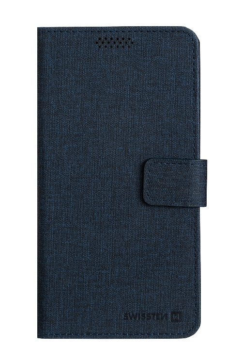 POUZDRO SWISSTEN LIBRO UNI BOOK XL TMAVĚ MODRÉ (158 x 80 mm)