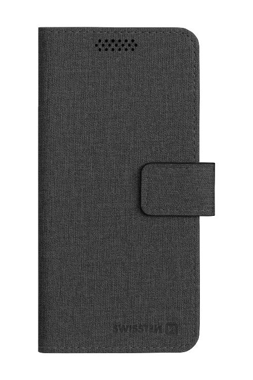 POUZDRO SWISSTEN LIBRO UNI BOOK XXL ČERNÉ (170 x 83 mm)