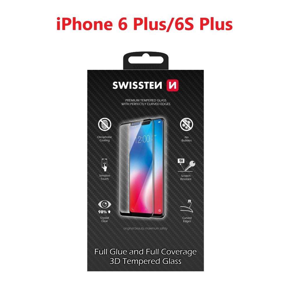 SKLO SWISSTEN ULTRA DURABLE 3D FULL GLUE GLASS APPLE IPHONE 6 PLUS/6S PLUS BÍLÉ