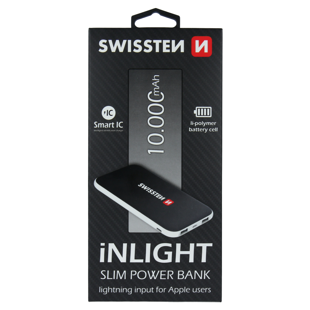 SWISSTEN iNLIGHT SLIM POWER BANK 10000 mAh