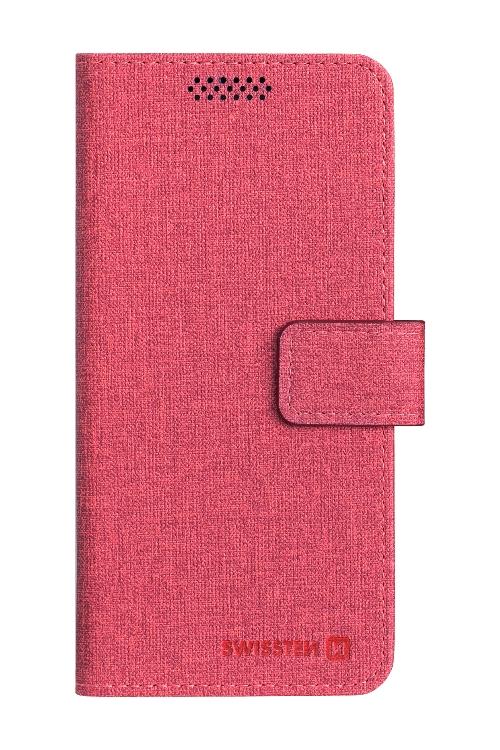POUZDRO SWISSTEN LIBRO UNI BOOK L ČERVENÉ (148 x 71 mm)