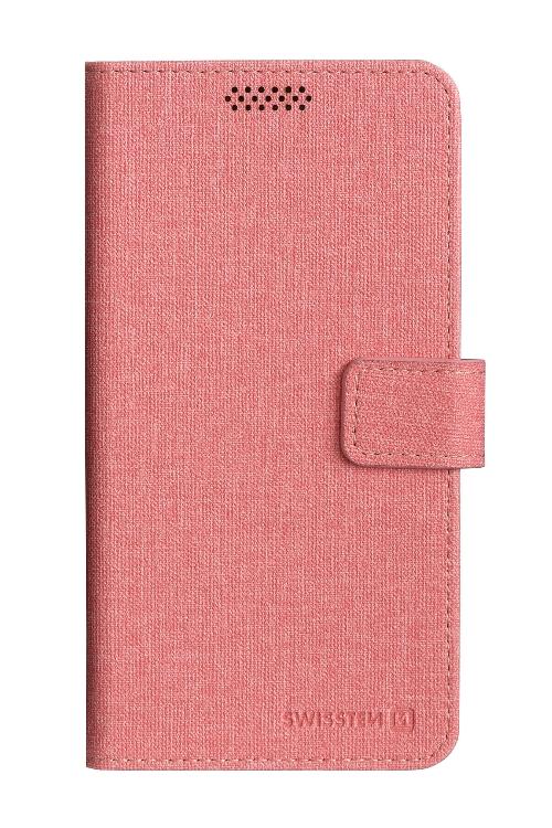 POUZDRO SWISSTEN LIBRO UNI BOOK XL RŮŽOVÉ (158 x 80 mm)