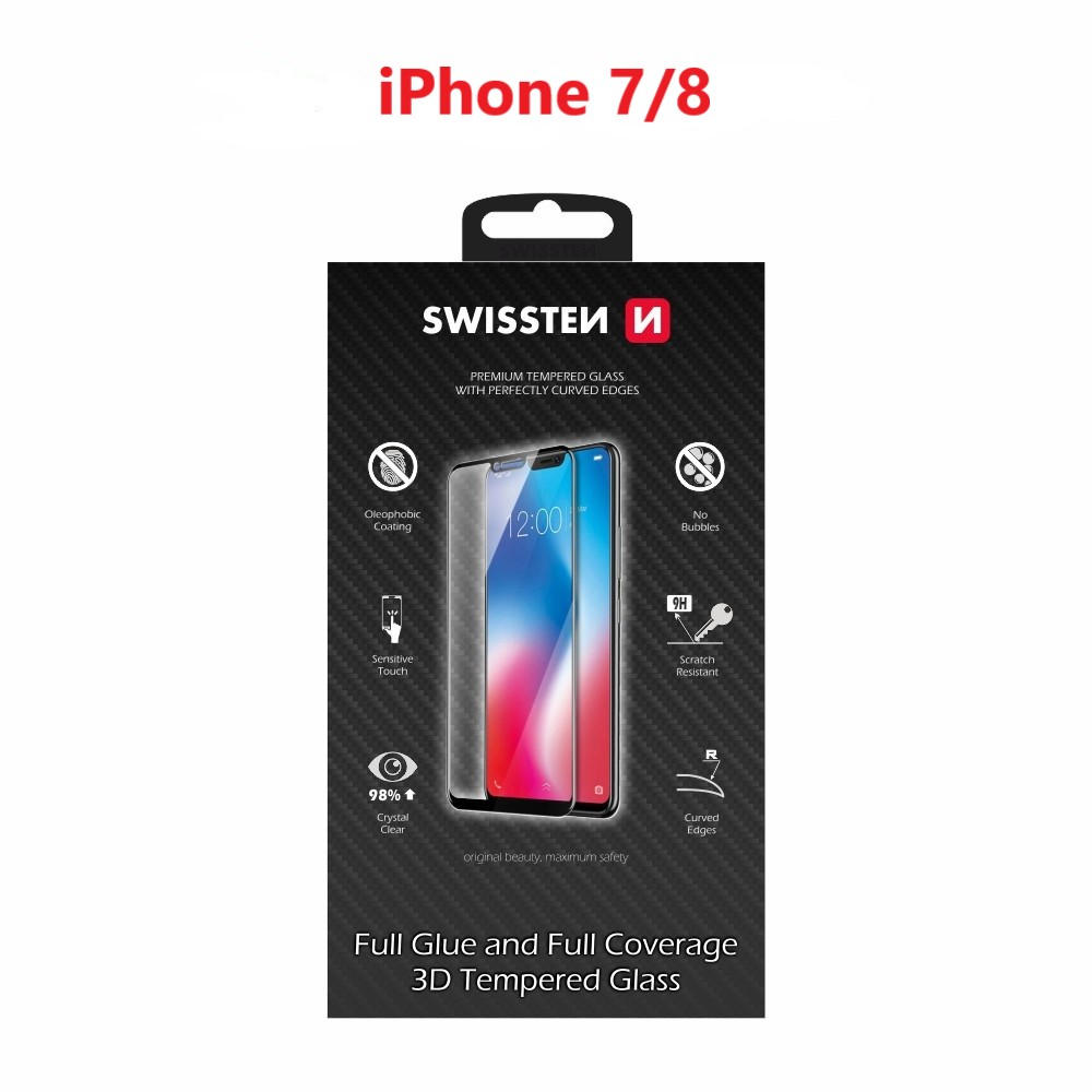 SKLO SWISSTEN ULTRA DURABLE 3D FULL GLUE GLASS APPLE IPHONE 7/8 RŮŽOVO ZLATÉ