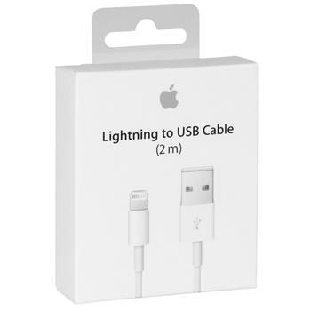 ORIGINÁLNÍ DATOVÝ KABEL IPHONE 5 MD819 2m (retail pack)