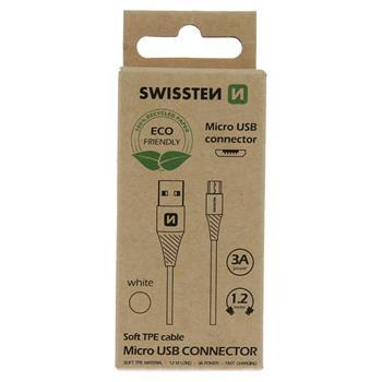 DATOVÝ KABEL USB/MICRO USB BÍLÝ 1,2M  (ECO BALENÍ)
