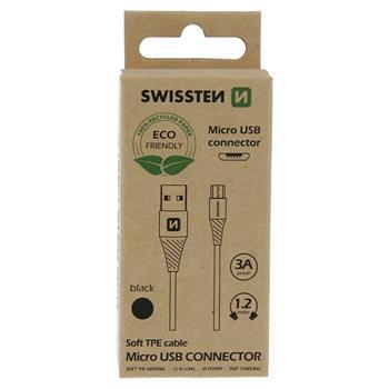 DATOVÝ KABEL USB/MICRO USB ČERNÝ 1,2M  (ECO BALENÍ)