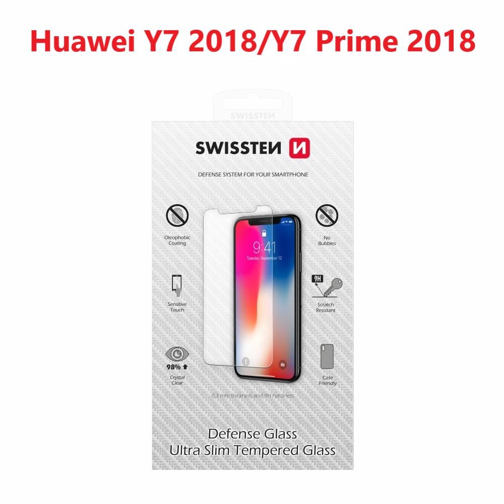 OCHRANNÉ TEMPEROVANÉ SKLO SWISSTEN HUAWEI Y7 2018/Y7 PRIME 2018 RE 2,5D