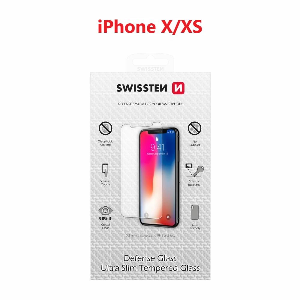 OCHRANNÉ TEMPEROVANÉ SKLO SWISSTEN APPLE IPHONE X/XS RE 2,5D