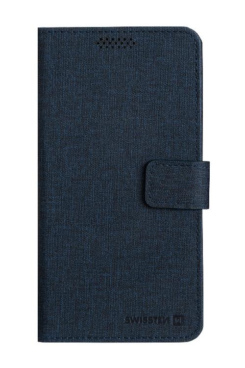 POUZDRO SWISSTEN LIBRO UNI BOOK XXL TMAVĚ MODRÉ (170 x 83 mm)